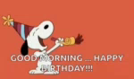 Snoopy Happy Birthday GIF - Snoopy HappyBirthday Party GIFs