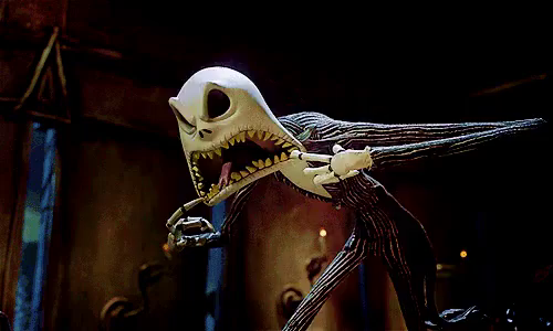 Halloween Jack Skellington Scary.Jack Skellington Scary Face Gifs Tenor