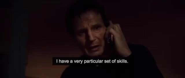 Image result for specific skill set liam neeson