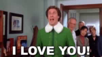 I Love You, I Love You, I LOVE YOOOOOOOU!!!! - Elf GIF - WillFerrell Elf BuddyTheElf GIFs