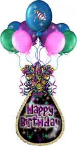 Happy Birthday Celebration GIF - HappyBirthday Celebration Balloons GIFs