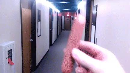 hot dog in a hallway