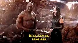 Take Ass Mantis 1.5 Pinback Button Badge or Magnet Guardians of the Galaxy Kick Names Funny Pinback