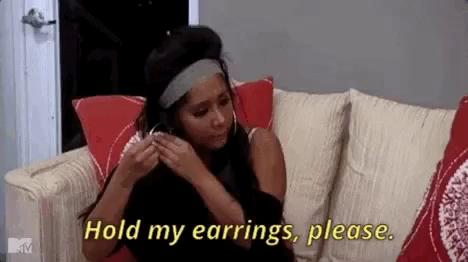 Hold My Earrings GIFs   Tenor