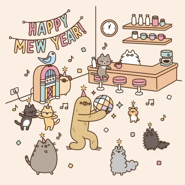 Exceptional Pusheen New Year GIF   Pusheen NewYear Cat GIFs