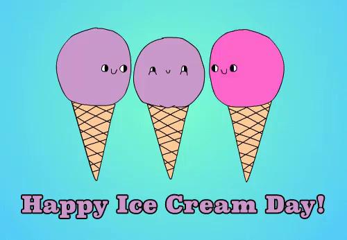 Happy Ice Cream Day GIF - Happ...