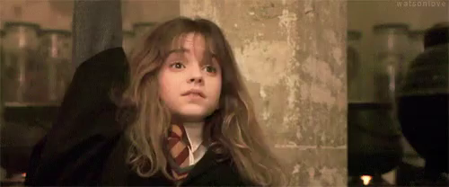raw hermione raise hand gif raisehand harrypotter discover & share gifs