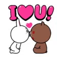 Brown Cony GIF - Brown Cony Line GIFs