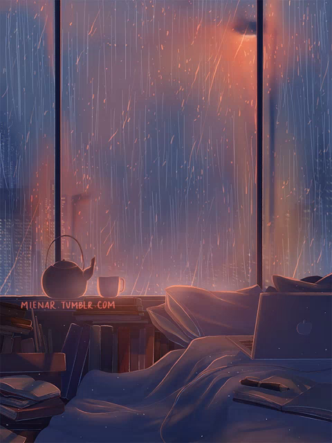 Anime Rain Wallpaper Gifs Tenor