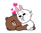 Brown Cony GIF - Brown Cony Cuddle GIFs