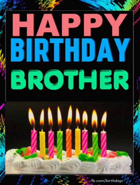Happy Birthday Brother Gifs Tenor