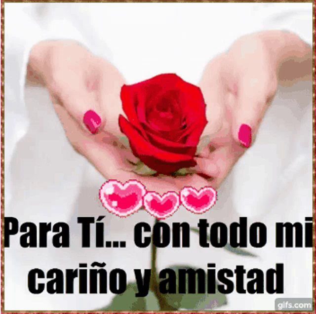 Para Ti Carino Amistad Gif Parati Carinoamistad Rosaroja Discover Share Gifs