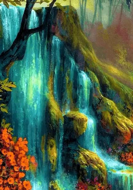 beautiful waterfall gif beautiful waterfall nature gifs