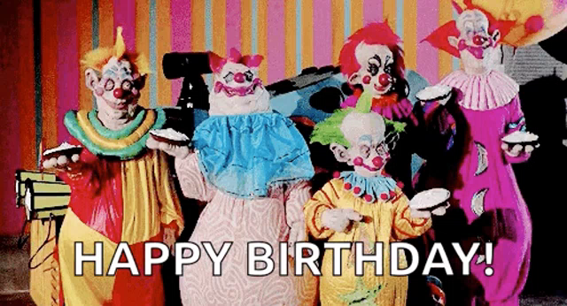 Birthday Clown Gifs Tenor