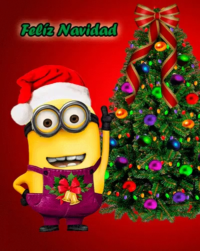 Feliz Navidad Christmas GIF - FelizNavidad Christmas MerryMinionsChristmas GIFs
