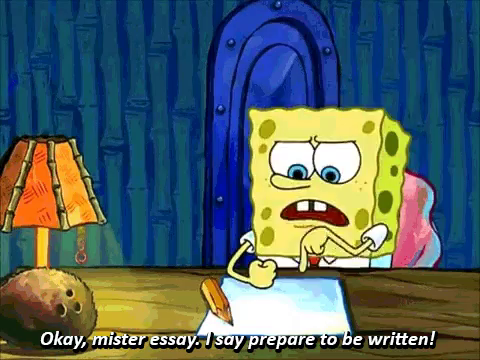 essay procrastination gif essay procrastination spongebob spongebob school gif spongebob school backtoschool gifs