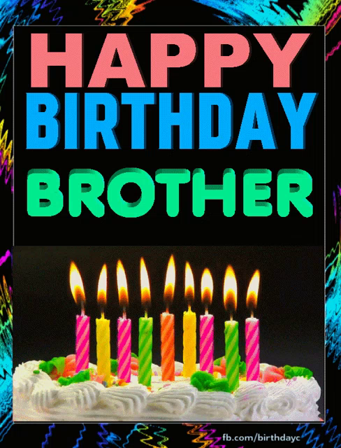 Happy Birthday Brother Gifs Tenor