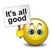 all good!