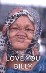 Love You Billy Grandma Kiss GIF - LoveYouBilly GrandmaKiss GIFs