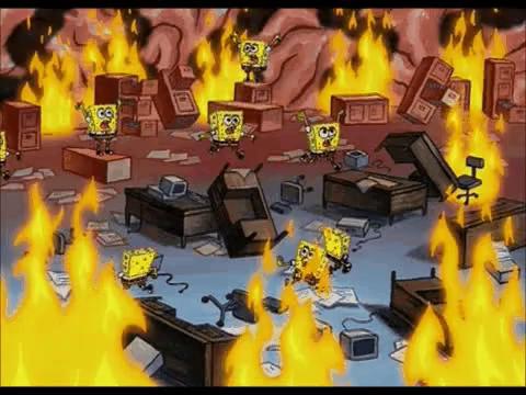 Spongebob Panic Gifs Tenor