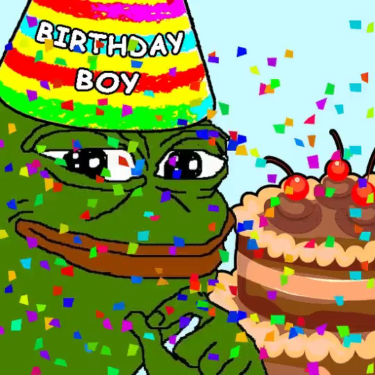 Happy Birthday Pepe GIF