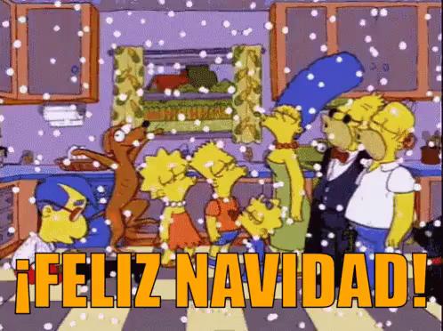 Imagenes de navidad los simpson