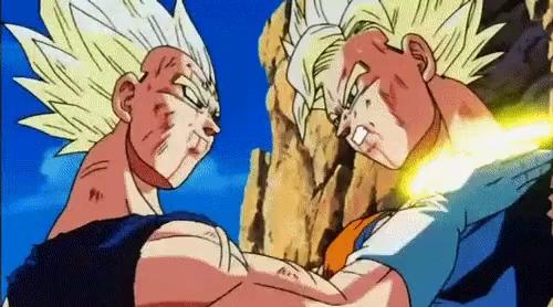 Goku Vs Majin Vegeta Gifs Tenor