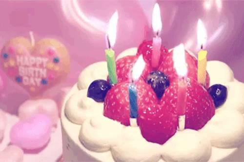 happy birthday cake gif happybirthday cake candles gifs