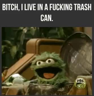 Oscar The Grouch Trash Can Gifs Tenor