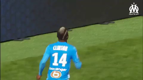 Clinton Njie GIF - ClintonNjie OlympiqueDeMarseille Om - Discover & Share GIFs