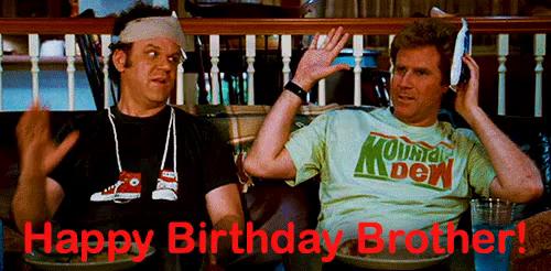 Happy Birthday Brother Funny Gifs Tenor