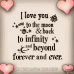 Love You To The Moon Heart GIF - LoveYouToTheMoon Heart Quote GIFs