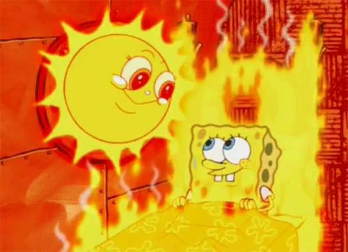 Spongebob Sun GIF - Spongebob Sun Burning - Discover & Share GIFs