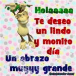 Hola Have AGood Day GIF - Hola HaveAGoodDay Monkey GIFs