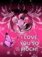 ILove You So Much Butterfly GIF - ILoveYouSoMuch Butterfly Sparkle GIFs
