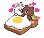 Brown Cony GIF - Brown Cony Kiss GIFs