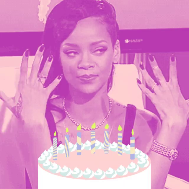 Magnificent Rihanna Cake Gifs Tenor Funny Birthday Cards Online Inifofree Goldxyz