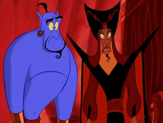 Image result for genie and Jafar