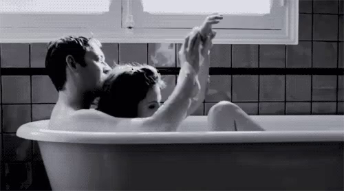 Bath Couple GIF