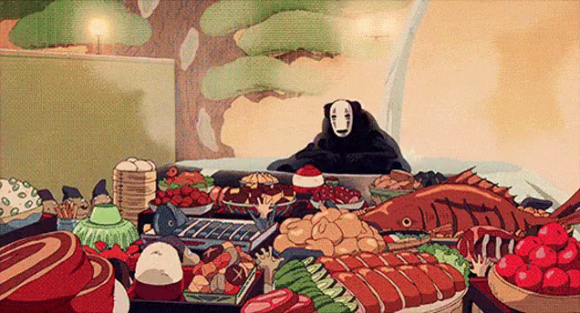 Spirited Away No Face Eating Gifs Tenor
