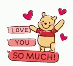 Love You So Much Pooh GIF - LoveYouSoMuch Love Pooh GIFs