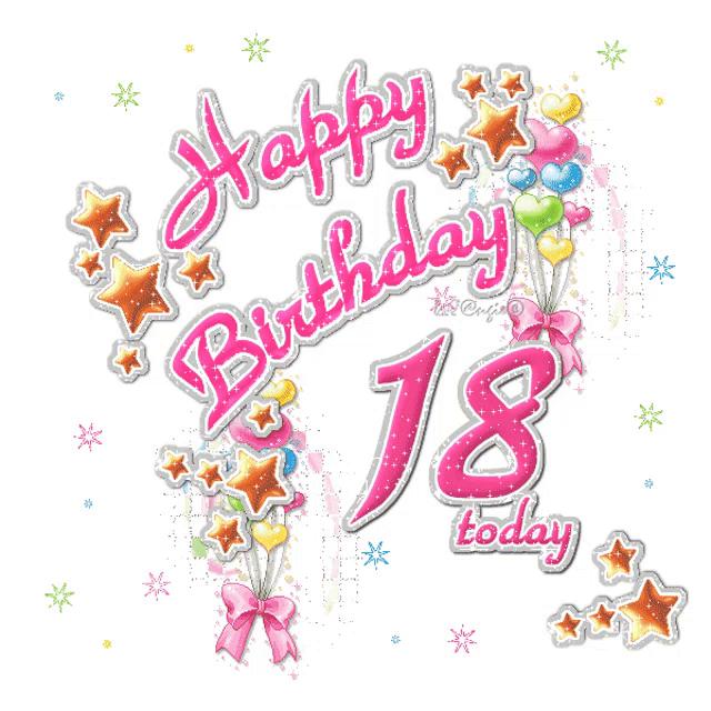 Brilliant 18Th Birthday Happy Birthday Gif 18Thbirthday Happybirthday Funny Birthday Cards Online Elaedamsfinfo
