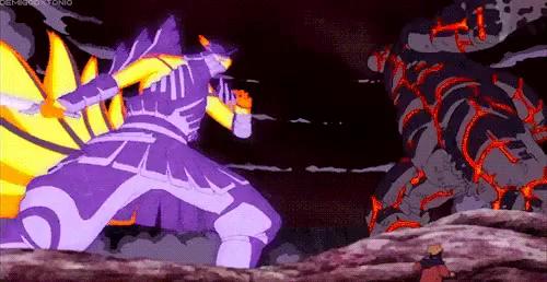 Naruto Bijuu Mode Vs Sasuke Susanoo