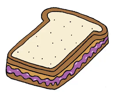 peanut butter and jelly sandwich gif tasty bread discover rh tenor com  peanut butter and jelly clipart