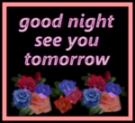 Good Night Tomorrow GIF - GoodNight Tomorrow Roses GIFs