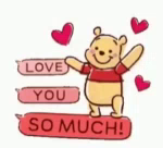 Winnie The Pooh Love You So Much GIF - WinnieThePooh Pooh LoveYouSoMuch GIFs