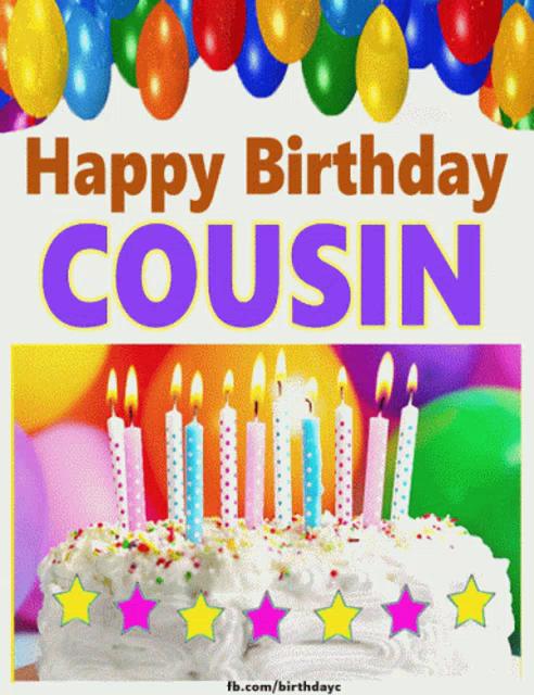 Happy Birthday Cousin Gifs Tenor
