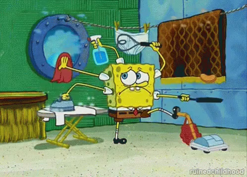 Spongebob Cleaning GIFs | Tenor