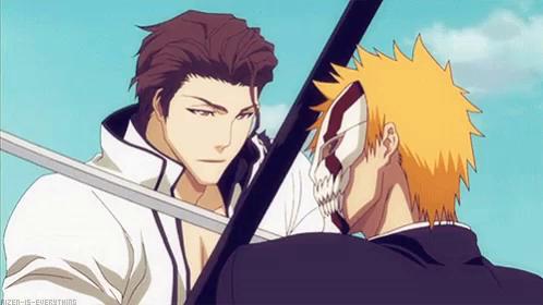 Ichigo Vs Aizen Final Fight GIFs