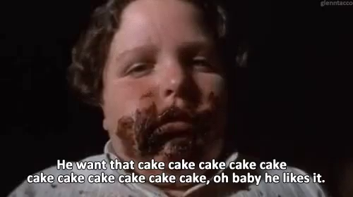 The popular Fat Lady Eating Cake GIFs everyones sharing